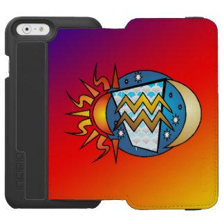 Capa Carteira Incipio Watson™ Para iPhone 6 astrologia, Aquário