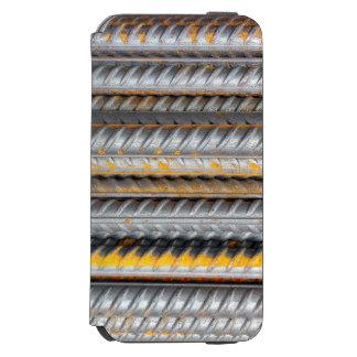 Capa Carteira Incipio Watson™ Para iPhone 6 Bares de teste padrão de aço oxidados