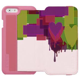 Capa Carteira Incipio Watson™ Para iPhone 6 Blocos da cor que derretem corações