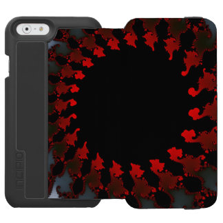 Capa Carteira Incipio Watson™ Para iPhone 6 Branco preto vermelho do Fractal