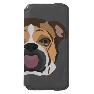 Capa Carteira Incipio Watson™ Para iPhone 6 Buldogue do inglês da ilustração