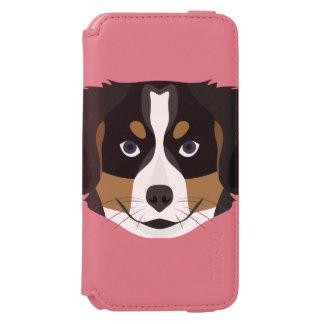 Capa Carteira Incipio Watson™ Para iPhone 6 Cão de montanha de Bernese da ilustração