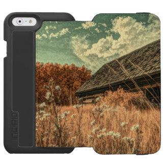 Capa Carteira Incipio Watson™ Para iPhone 6 celeiro velho da fazenda do wildflower do campo do