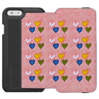 Capa Carteira Incipio Watson™ Para iPhone 6 Corações vivos