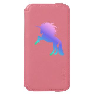 Capa Carteira Incipio Watson™ Para iPhone 6 Coral do unicórnio do arco-íris/caixa cor-de-rosa
