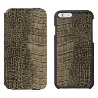 Capa Carteira Incipio Watson™ Para iPhone 6 Couro clássico do réptil do crocodilo de Nile