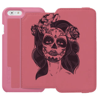 Capa Carteira Incipio Watson™ Para iPhone 6 Crânio gótico