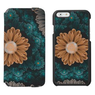 Capa Carteira Incipio Watson™ Para iPhone 6 Crisântemo bonito do paraíso da laranja & do Aqua