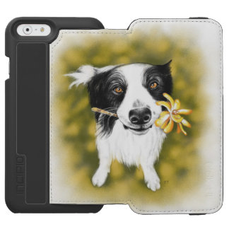 Capa Carteira Incipio Watson™ Para iPhone 6 Cutie de border collie