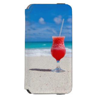 Capa Carteira Incipio Watson™ Para iPhone 6 Daiquiri da praia e água tropicais de turquesa
