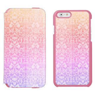 Capa Carteira Incipio Watson™ Para iPhone 6 Doces doces Kawaii de Lolita do damasco Pastel