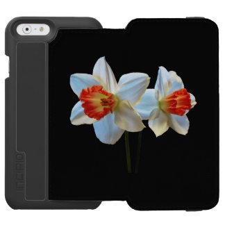 Capa Carteira Incipio Watson™ Para iPhone 6 Dois brancos e Daffodils alaranjados