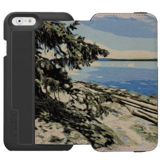 Capa Carteira Incipio Watson™ Para iPhone 6 Estilo pacífico do woodblock da praia