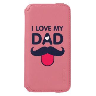Capa Carteira Incipio Watson™ Para iPhone 6 Eu amo meu ícone bonito do bigode do pai