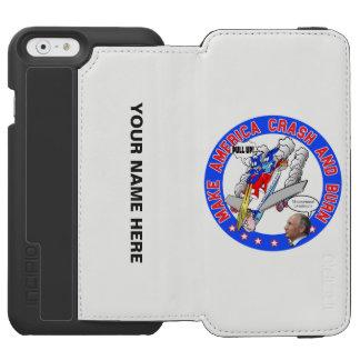 Capa Carteira Incipio Watson™ Para iPhone 6 Faça América deixar de funcionar & queimar-se