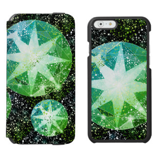 Capa Carteira Incipio Watson™ Para iPhone 6 Faísca verde do ouro do cristal de rocha de pedra