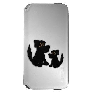 Capa Carteira Incipio Watson™ Para iPhone 6 Família de cão preto