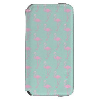 Capa Carteira Incipio Watson™ Para iPhone 6 Flamingo cor-de-rosa no teste padrão sem emenda da