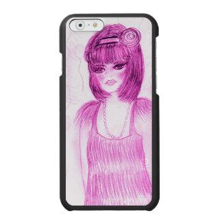 Capa Carteira Incipio Watson™ Para iPhone 6 Flapper do party girl no rosa quente