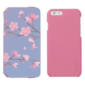 Capa Carteira Incipio Watson™ Para iPhone 6 Flor de cerejeira - azul da serenidade