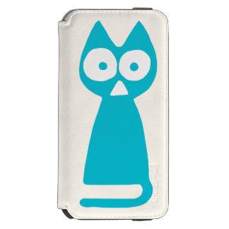 Capa Carteira Incipio Watson™ Para iPhone 6 Gato simbólico do triângulo azul de Capri