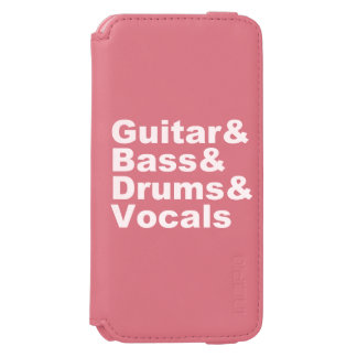 Capa Carteira Incipio Watson™ Para iPhone 6 Guitar&Bass&Drums&Vocals (branco)