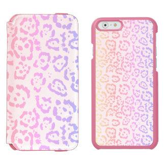 Capa Carteira Incipio Watson™ Para iPhone 6 Impressão animal do arco-íris Pastel do leopardo