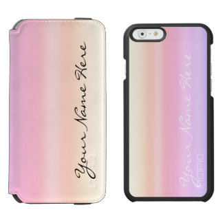 Capa Carteira Incipio Watson™ Para iPhone 6 Inclinação Kawaii de Ombre do Taffy do rosa Pastel