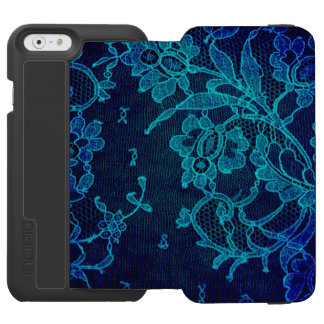 Capa Carteira Incipio Watson™ Para iPhone 6 Laço gótico dos azuis marinhos do Victorian