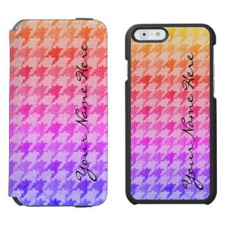 Capa Carteira Incipio Watson™ Para iPhone 6 Lavanda cor-de-rosa brilhante Ombre de Houndstooth