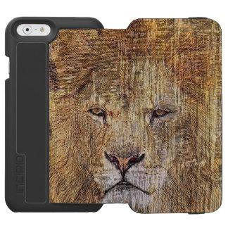 Capa Carteira Incipio Watson™ Para iPhone 6 Leão majestoso dos animais selvagens animais do