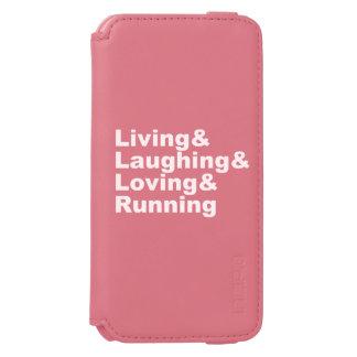 Capa Carteira Incipio Watson™ Para iPhone 6 Living&Laughing&Loving&RUNNING (branco)