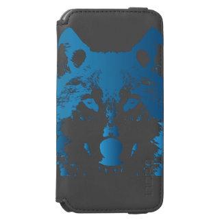 Capa Carteira Incipio Watson™ Para iPhone 6 Lobo do azul de gelo da ilustração