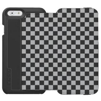 Capa Carteira Incipio Watson™ Para iPhone 6 Luz - tabuleiro de damas cinzento