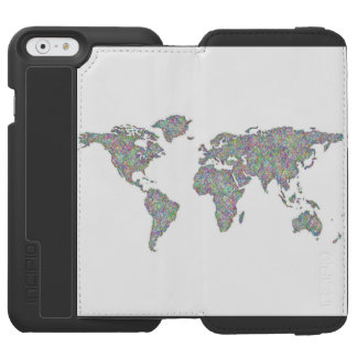 Capa Carteira Incipio Watson™ Para iPhone 6 Mapa do mundo