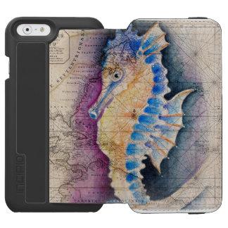 Capa Carteira Incipio Watson™ Para iPhone 6 Mapa velho do cavalo marinho
