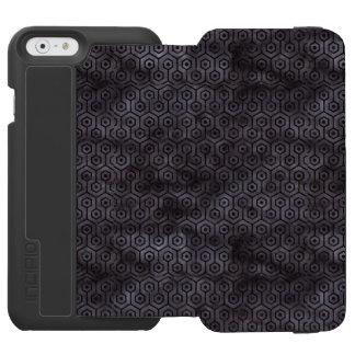 CAPA CARTEIRA INCIPIO WATSON™ PARA iPhone 6 MÁRMORE HEXAGON1 PRETO & AGUARELA PRETA (R)