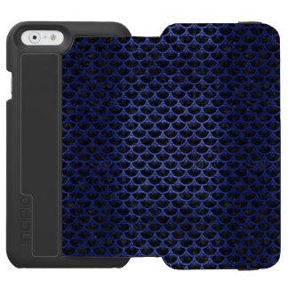 CAPA CARTEIRA INCIPIO WATSON™ PARA iPhone 6 MÁRMORE SCALES3 PRETO & METAL ESCOVADO AZUL