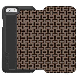 CAPA CARTEIRA INCIPIO WATSON™ PARA iPhone 6 MÁRMORE WOVEN1 PRETO & LÁPIS DE COR CASTANHA (R)