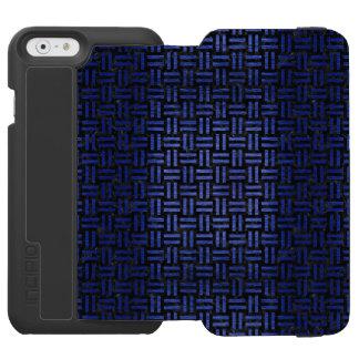 CAPA CARTEIRA INCIPIO WATSON™ PARA iPhone 6 MÁRMORE WOVEN1 PRETO & METAL ESCOVADO AZUL