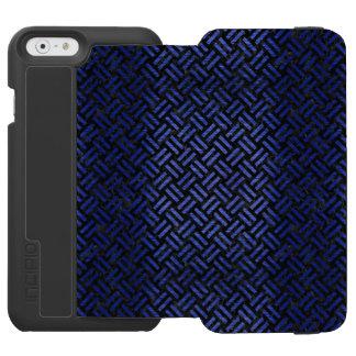 CAPA CARTEIRA INCIPIO WATSON™ PARA iPhone 6 MÁRMORE WOVEN2 PRETO & METAL ESCOVADO AZUL
