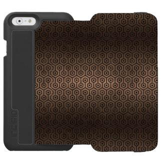 CAPA CARTEIRA INCIPIO WATSON™ PARA iPhone 6 METAL PRETO DO MÁRMORE HEXAGON1 & DO BRONZE (R)