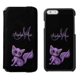 Capa Carteira Incipio Watson™ Para iPhone 6 Monograma roxo do gatinho