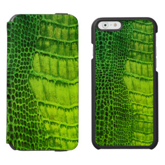 Capa Carteira Incipio Watson™ Para iPhone 6 Monstro de mar no couro verde-claro do falso