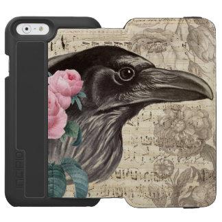 Capa Carteira Incipio Watson™ Para iPhone 6 Música do corvo