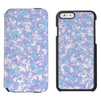 Capa Carteira Incipio Watson™ Para iPhone 6 Neve futurista cor-de-rosa azul do laser do mundo