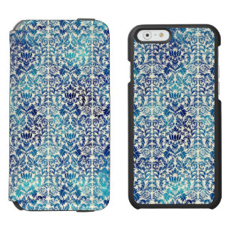 Capa Carteira Incipio Watson™ Para iPhone 6 Niagara e damasco azul de Shibori do Batik de