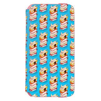 Capa Carteira Incipio Watson™ Para iPhone 6 Noite japonesa do sushi para o buldogue francês