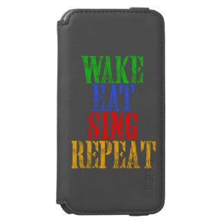 Capa Carteira Incipio Watson™ Para iPhone 6 O acordar come canta a repetição