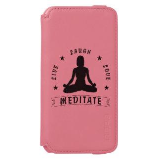 Capa Carteira Incipio Watson™ Para iPhone 6 O amor vivo do riso Meditate o texto fêmea (o